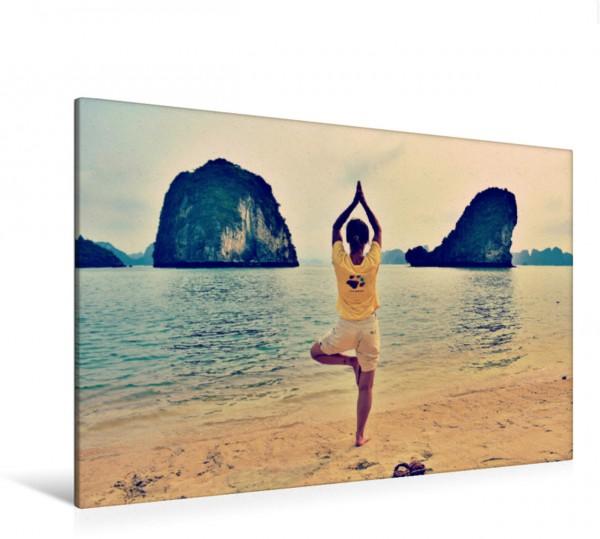 Wandbild Yoga am Strand