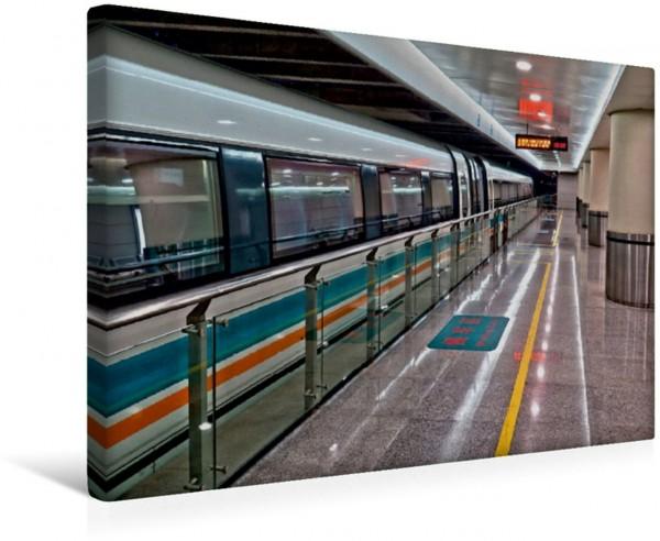 Wandbild Bahnhof der Metro, Shanghai Impressionen aus Shanghai Impressionen aus Shanghai