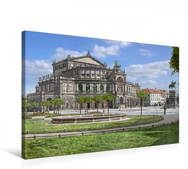 Wandbild Dresden - Semperoper 1900