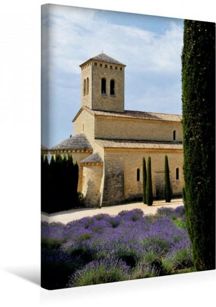 Wandbild Lavendelfelder eines Klosters Abtei Ste-Madeleine du Barroux Provence Momente Abtei Ste-Madeleine du Barroux Provence Momente
