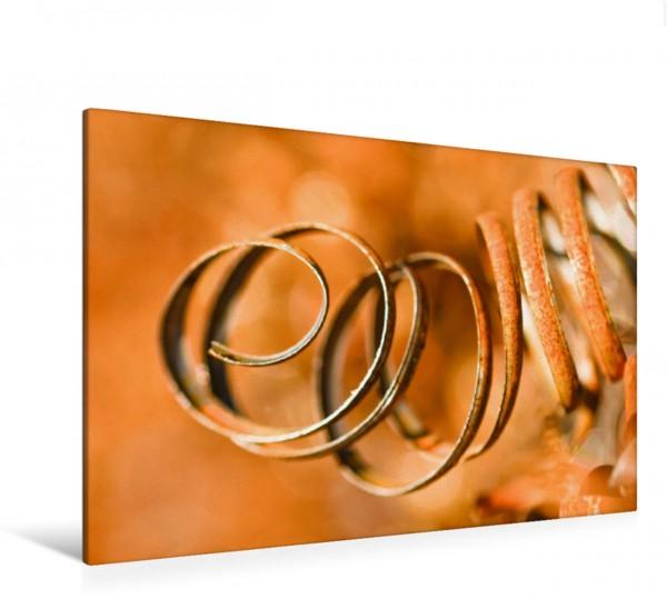Wandbild Rostiger Hintergrund - kunstvolle Fotografie eines Metallspans