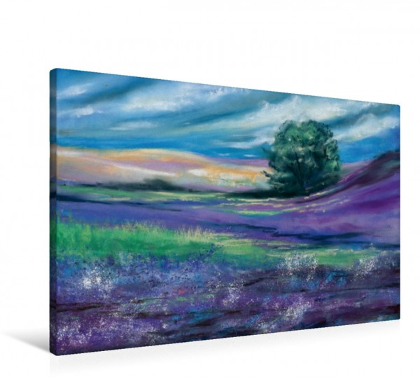 Wandbild Blühende Heide