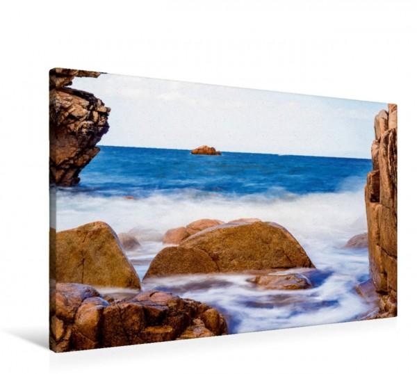 Wandbild Mystische Abendstimmung an der Küste Bretagne Frankreich Bretagne Frankreich