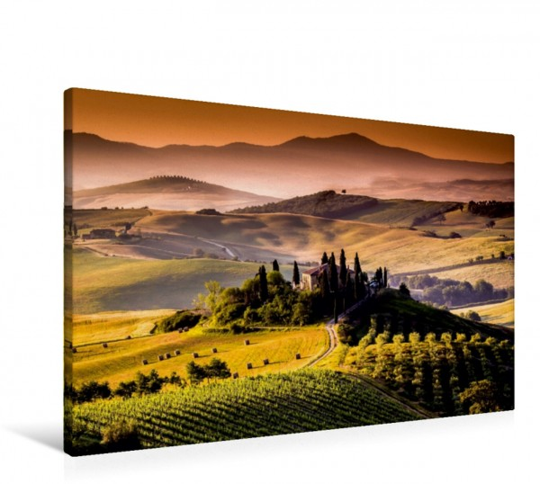 Wandbild Weinanbaugebiet und Landschaft in der Toskana Italiens Schönheit Italiens Schönheit