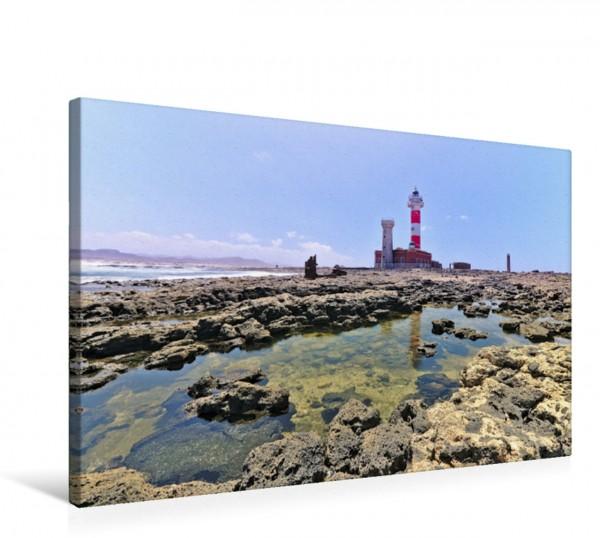 Wandbild Der Leuchtturm Faro del Tostón auf Fuerteventura