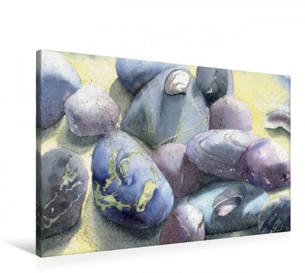 Wandbild Blaue Steine