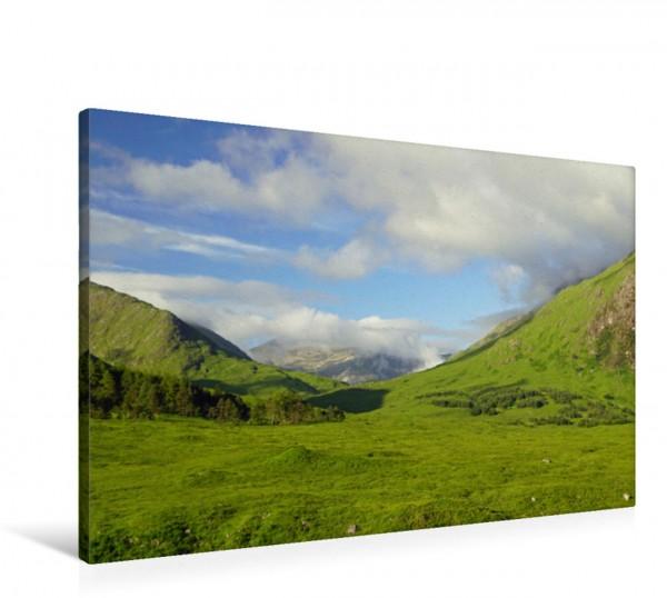 Wandbild Wolken über den Bergen des Glen Etive Glen Etive in Schottland Glen Etive in Schottland