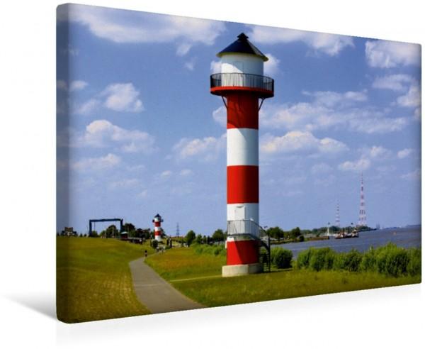 Wandbild Leuchttürme an der Elbe