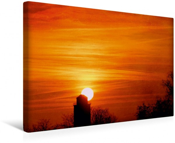 Wandbild Sonnenaufgang Stimmungsvoller HImmel Leinwandbild