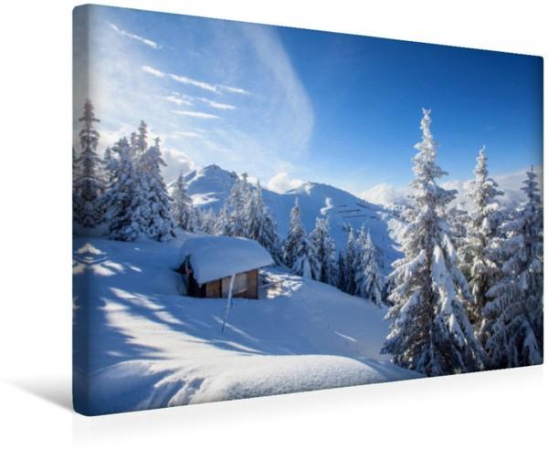 Wandbild Winterwald am Grießenkar