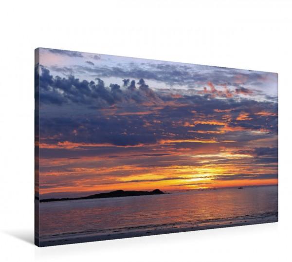 Wandbild Sonnenuntergang an der Côte des Légendes