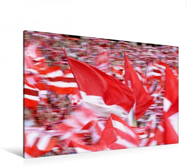 Wandbild Fahnen-Meer im Fußball-Stadion Was wäre der Fußball ohne seine Fanse Was wäre der Fußball ohne seine Fanse