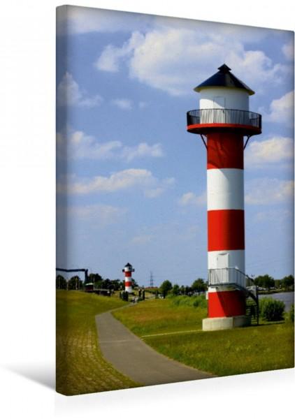 Wandbild Elbe Leuchtturm