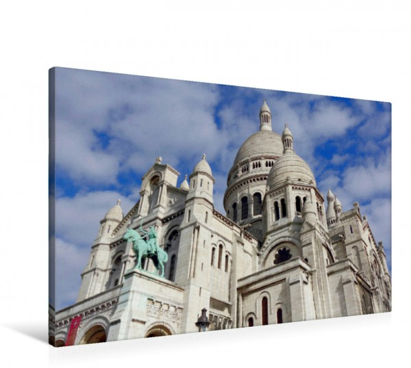 Wandbild Basilika Sacré Coeur de Montmartre Eindrucksvolle Wallfahrtskirche über den Dächern von Paris Eindrucksvolle Wallfahrtskirche über den Dächern von Paris