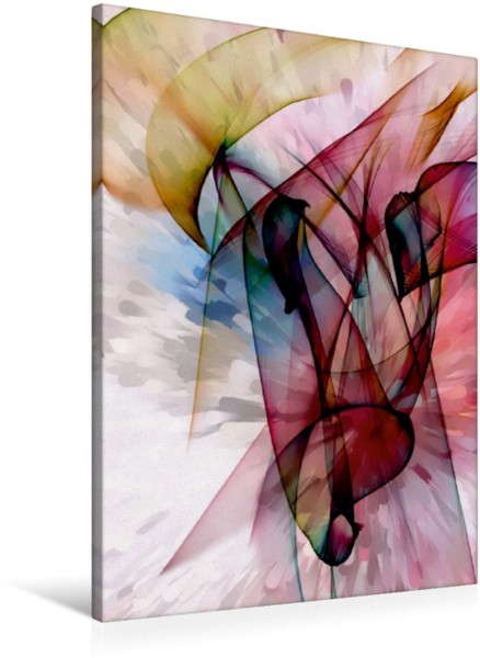 Wandbild Farbenknall