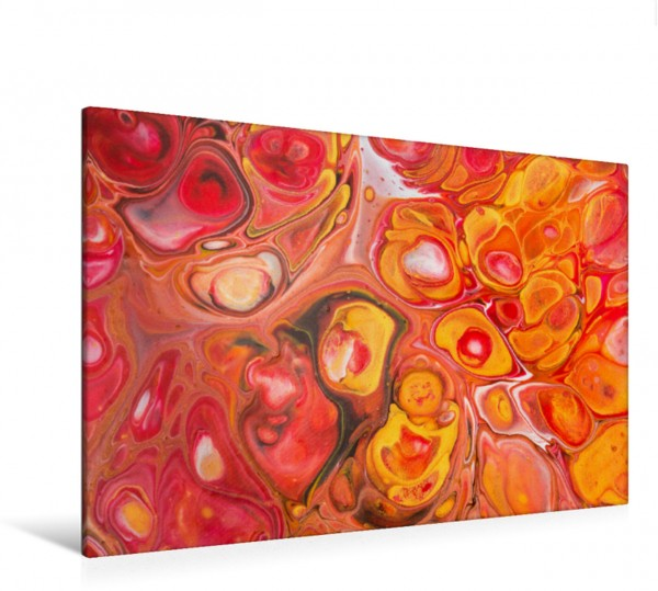 Wandbild Fülle, Acrylic Pouring, Abstrakte Malerei von Carola Vahldiek Ein farbenfrohes inspiriendes Kunstwerk Ein farbenfrohes inspiriendes Kunstwerk