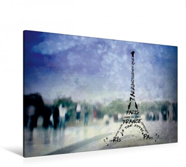 Wandbild PARIS Trocadero und Eiffelturm Typografie Dekorative Szene aus Paris Dekorative Szene aus Paris