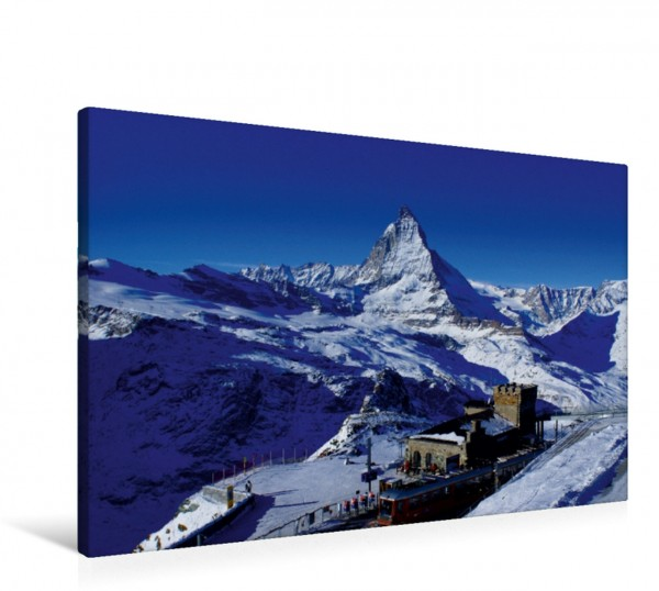 Wandbild Gornergrat mit Matterhorn. Zermatt Der Berg der Berge in der Schweiz. Matterhorn im Winter. Zermatt / Wallis / Schweiz Der Berg der Berge in der Schweiz. Matterhorn im Winter. Zermatt / Walli