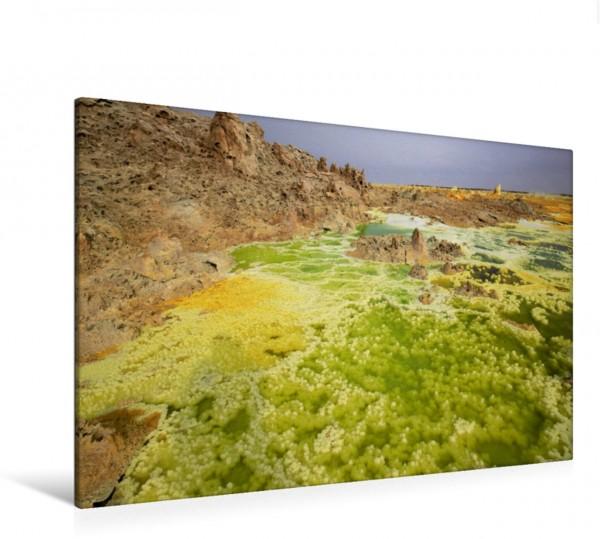 Wandbild Heisse Salzwasserquellen in der Dallol Senke Ein Farbspektakel der Superlative im Norden Äthiopiens Ein Farbspektakel der Superlative im Norden Äthiopiens