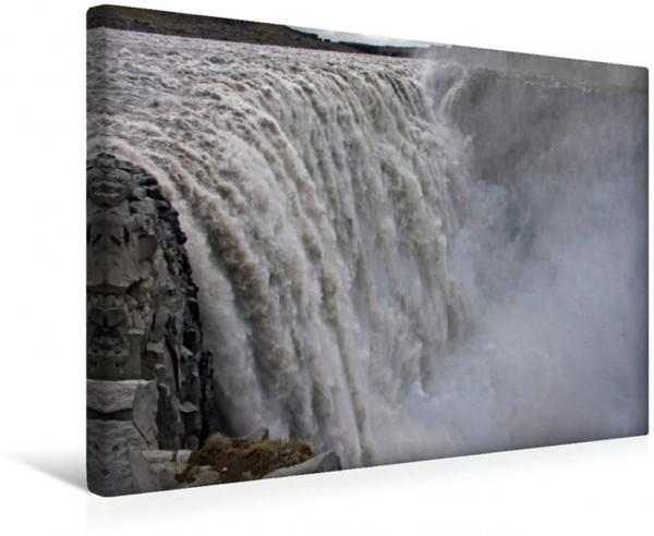 Wandbild Am Dettifoss Der wasserreichste Wasserfall Europas Der wasserreichste Wasserfall Europas