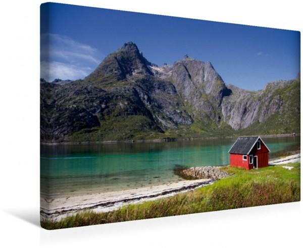 Wandbild Fjord der Lofoten Lofoten - Norwegen zwischen Bergen und Meer Lofoten - Norwegen zwischen Bergen und Meer