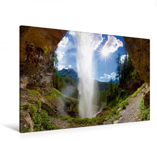 Wandbild Der Johannes Wasserfall im puren Sonnenschein