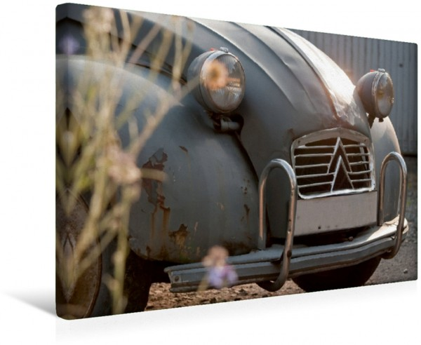 Wandbild Lebendiges Gesicht Citroën 2CV Citroën 2CV