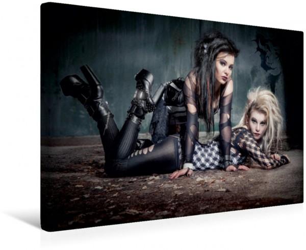 Wandbild Sexy Gothic Girls Sue & Missy Sue & Missy