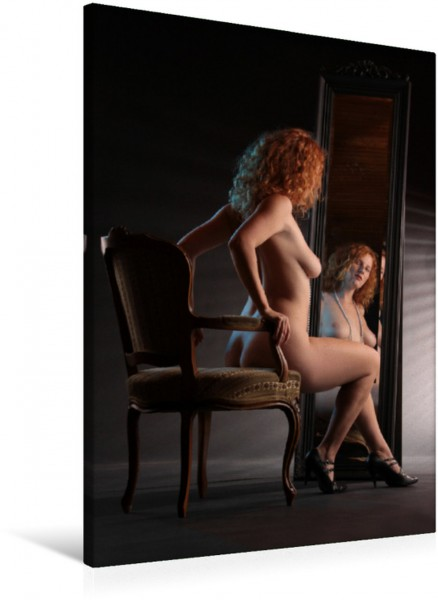 Wandbild Nackt im Spiegel