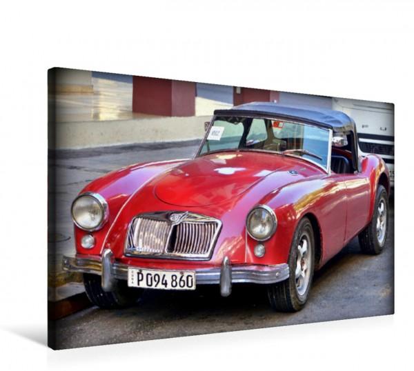 Wandbild Der britische Oldtimer MGA Roadster in Kuba