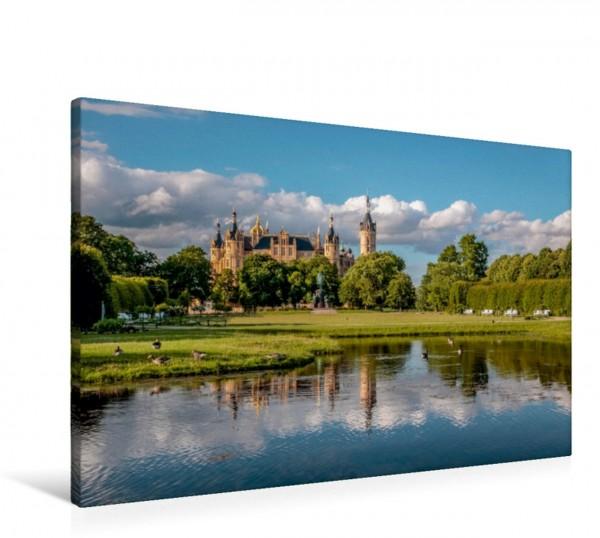 Wandbild Schlosspark von Schwerin in Mecklenburg-Vorpommern