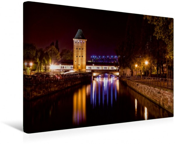 Wandbild La Petite France by Night