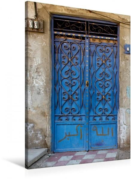 Wandbild Blaue Tür