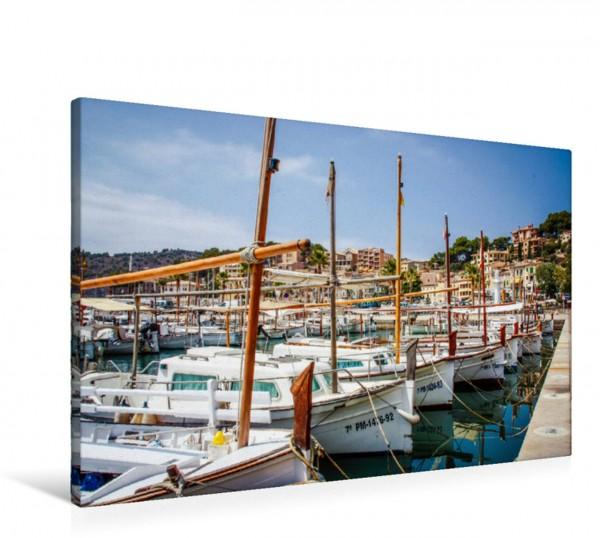 Wandbild Boote in Port de Sóller
