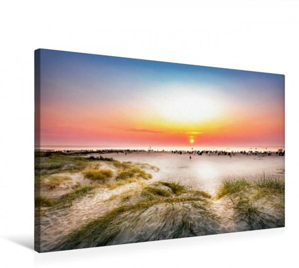 Wandbild Strandblick im Sonnenuntergang