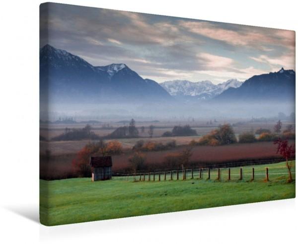 Wandbild Murnauer Moos Blick in das Wettersteingebirge mit Zugspitze Blick in das Wettersteingebirge mit Zugspitze