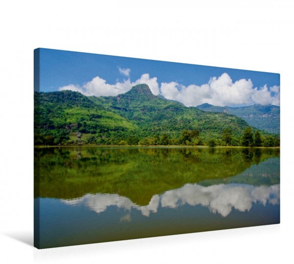 Wandbild Spiegelbild Wat Phu Laos Wat Phu Laos