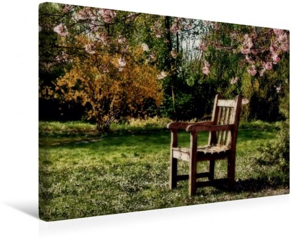 Wandbild Auf die Frühlingssonne wartend Bitte platznehmen Bitte platznehmen