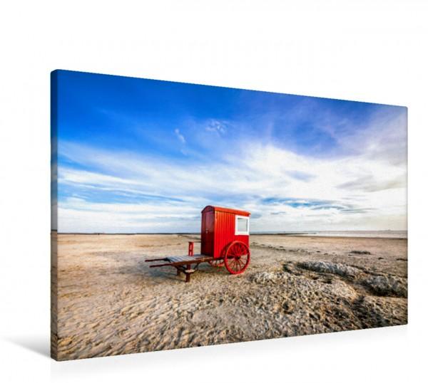 Wandbild Strandkarren am Strand Nordseeinsel Borkum Nordseeinsel Borkum