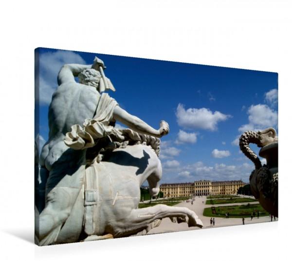 Wandbild Die schönsten Monumentalbrunnen in Wien Blick vom Neptunbrunnen auf das Schloss Schönbrunn Blick vom Neptunbrunnen auf das Schloss Schönbrunn