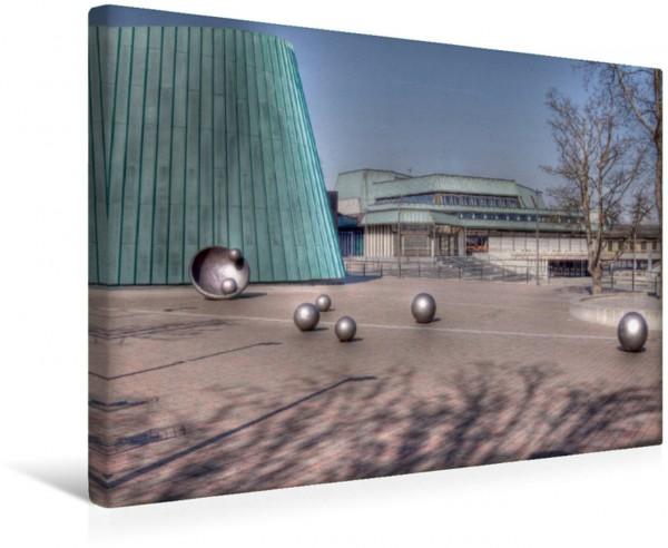 Wandbild Musikschule und Schwabenlandhalle