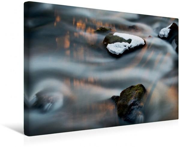 Wandbild Steine im Wasser des Flusses Eurajoki bei Kauttua