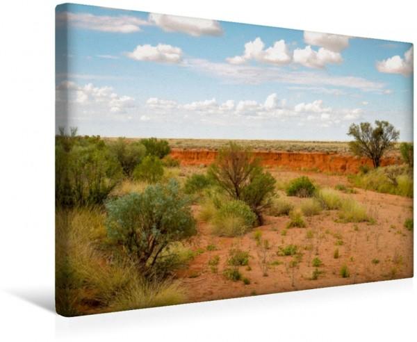 Wandbild Australiens Outback Flussbett im australischen Outback bei Broken Hill Flussbett im australischen Outback bei Broken Hill