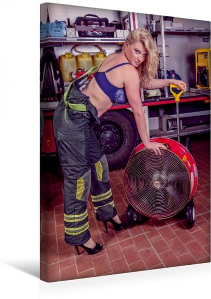 Wandbild Sexy Feuerwehrfrau