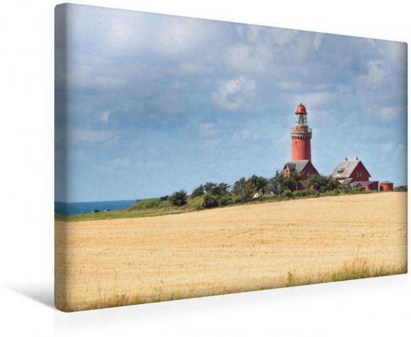 Wandbild Bovbjerg Fyr - Der kleine rote Dicke Leuchtturm an Dänemarks Westküste Leuchtturm an Dänemarks Westküste