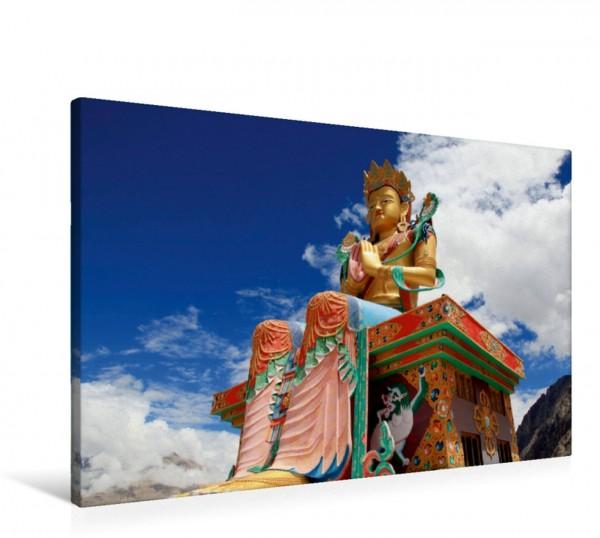 Wandbild Maitreya Buddhastatue Diskit Nubra Valley