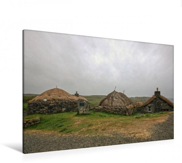 Wandbild Na Gearrannan Blackhouse Village
