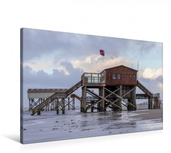 Wandbild Strandcafé Silbermöwe