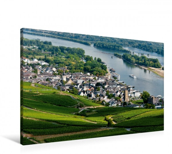 Wandbild Rüdesheim mit Brömserburg und Boosenburg Burgen im Rheintal - Landschaft Romantik Mythos von Juergen Feuerer: Burgen im Rheintal - Landschaft Romantik Mythos von Juergen Feuerer: