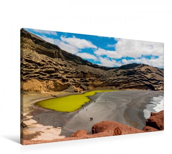 Wandbild Der Lagunensee bei El Golfo Lanzarote Lanzarote